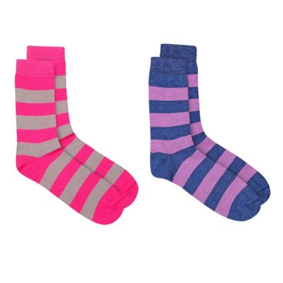 Stripey 2 Pack Of Very Clever Socks