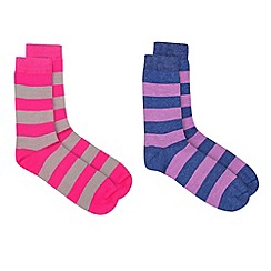 HotSquash - Stripey 2 Pack Of Very Clever Socks