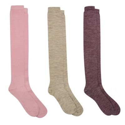 3 Pack Knee High Thermal Socks With ThinHeat