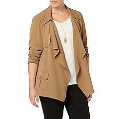 Evans - Collection beige short trench coat