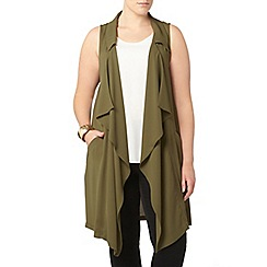 Evans - Collection khaki sleeveless jacket