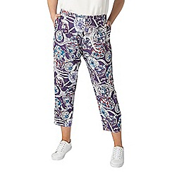 Evans - Purple 'the cut' printed trousers
