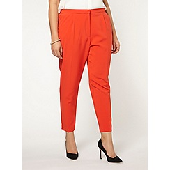 Evans - Collection red crepe trousers