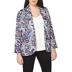 Evans - Purple 'the cut' printed jacket