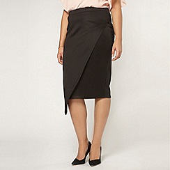 Evans - Collection black wrap skirt