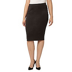 Evans - Collection black scuba pencil skirt
