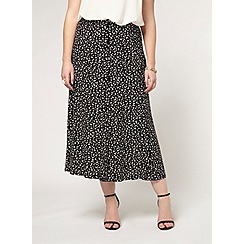 Evans - Black and white printed skirt