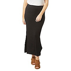 Evans - Black side split maxi skirt