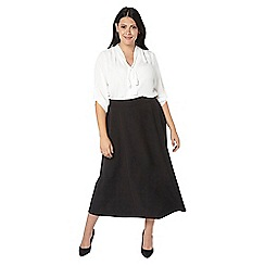 Evans - Black workwear skirt