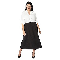 Evans - Black pear fit workwear skirt