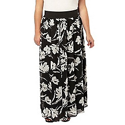 Evans - Black and white print skirt
