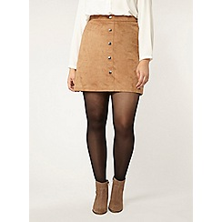 Evans - Tan suedette mini skirt