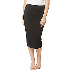 Evans - Black jersey tube skirt