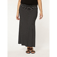 Evans - Monochrome striped skirt