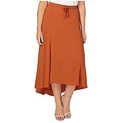Evans - Rust orange asymmetric skirt
