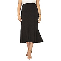 Evans - Black fit and flare skirt