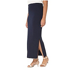 Evans - Navy maxi skirt