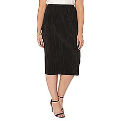 Evans - Collection black pleated skirt