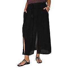 Evans - Black maxi skirt