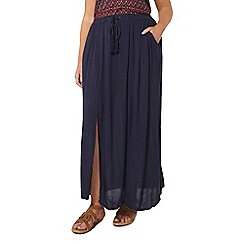 Evans - Navy blue maxi skirt