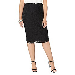 Evans - Black lace tube skirt