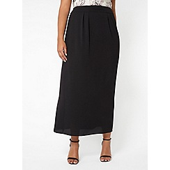 Evans - Black chiffon maxi skirt
