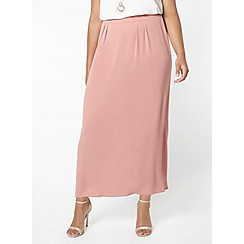 Evans - Pink chiffon maxi skirt