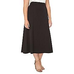 Evans - Black midi skirt