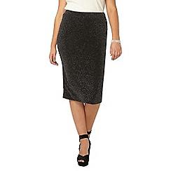 Evans - Grey glitter tube skirt