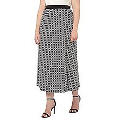 Evans - Geo printed skirt