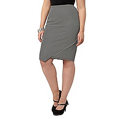 Evans - Striped hourglass fit tube skirt