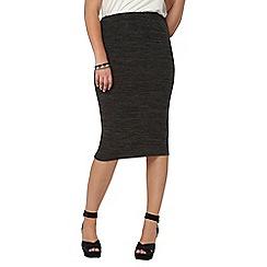Evans - Grey tube skirt