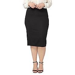 Evans - Evans black ribbed tube skirt