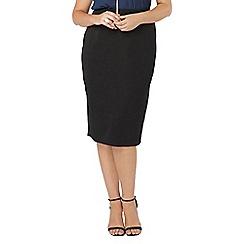 Evans - Black pear fit tube skirt