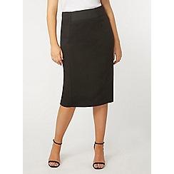 Evans - Black tube skirt
