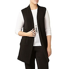 Evans - Black sleeveless jacket