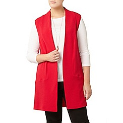 Evans - Red sleeveless jacket