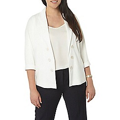 Evans - Ivory button front jacket