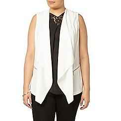Evans - Ivory sleeveless waistcoat