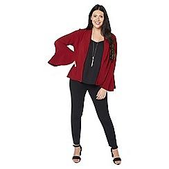 Evans - Wine flute sleeve blazer jacket