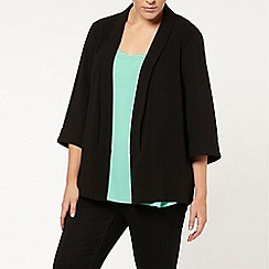 Evans - Black crepe jacket