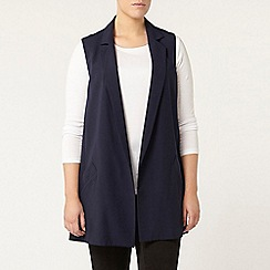 Evans - Navy sleeveless jacket
