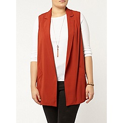 Evans - Rust sleeveless jacket