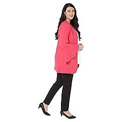 Evans - Hot pink longline flute sleeves jacket