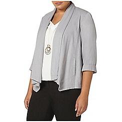 Evans - Grey linen blend jacket