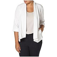 Evans - White linen blend jacket