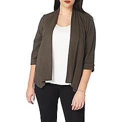 Evans - Khaki linen blend jacket
