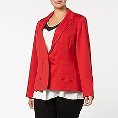Evans - Red jersey one button jacket