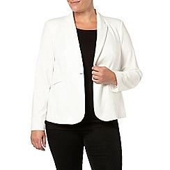 Evans - Ivory jersey jacket