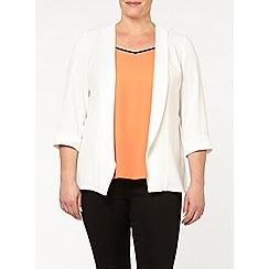 Evans - Ivory crepe jacket